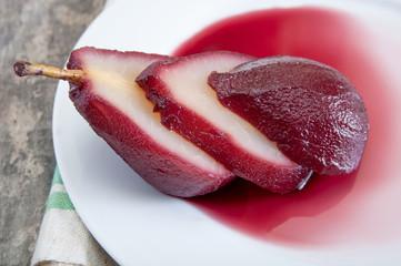 Pear in wine