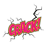 crack comic cartoon pop art