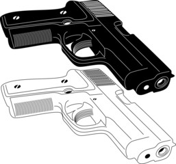 Illustration of Guns and wepons