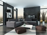 Ultramodern Loft Living Room Interior