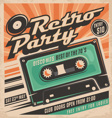 Retro party poster design © lukeruk