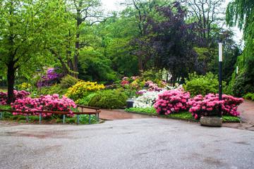 Planten un Blomen park in Hamburg, Germany