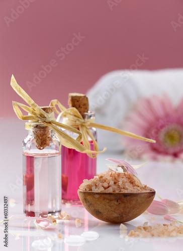 Spa oils and sea salt