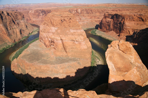 view of the Horseshoe bend in Utah, USA