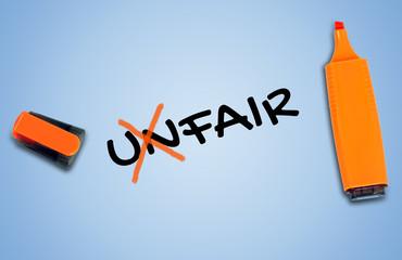 Unfair word