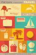 Flat Travel Icons Set