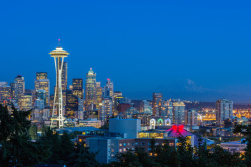 Seattle Skyline & Mt. Rainier