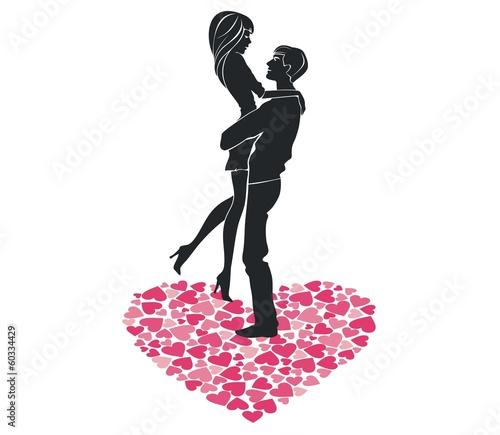 Силуэт влюбленной пары by