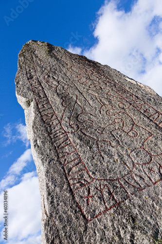 Rune stone at Anundshög outside Västerås, Sweden.