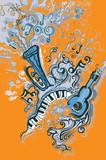 Vector musical jazz.