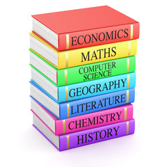 School books - Textbooks isolated