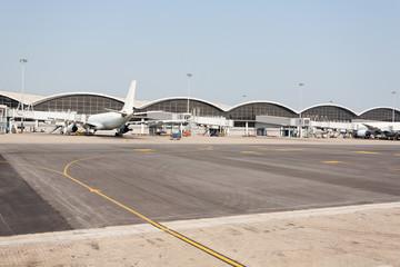 Passenger aircraft in Hong Kong International Airport