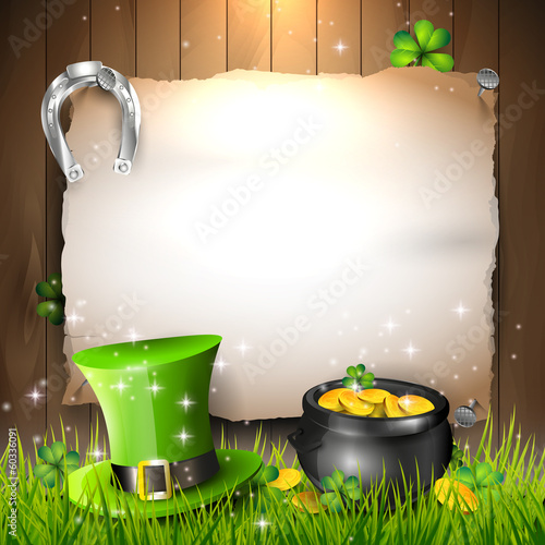 St. Patrick's Day - vector background with copyspace