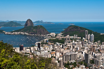 Sugarloaf Mountain, Skyline Rio de Janeiro, Brazil