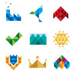 Triangle series computer icon set