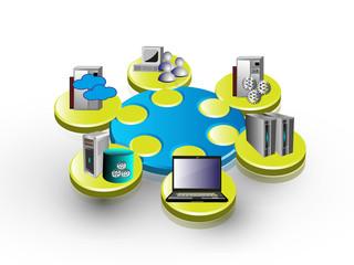 Enterprise application integration 3d Puzzle view