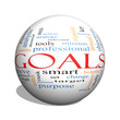 Goals 3D sphere Word Cloud Concept