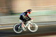 cyclist , blurred motion