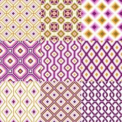 seamless retro geometric wallpaper art
