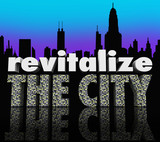 Revitalize the City Downtown Urban Center Skyline Improve Busine poster
