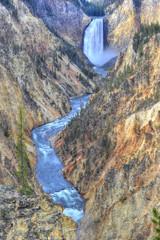 yellowstone falls , yellowstone national park, wyoming, usa