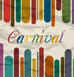 Old colorful card with text for carnival festival