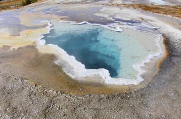 thermal pool, yellowstone national park, wyoming,usa