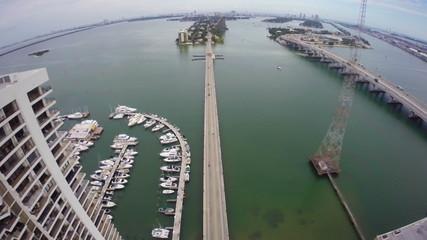 Miami Herald Building aerial video footage