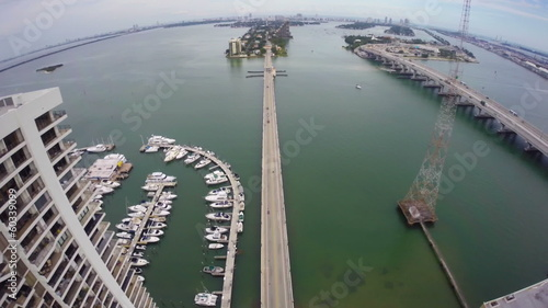 Miami Herald Building aerial video footage