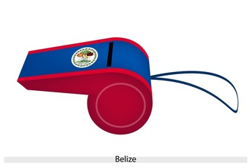 Red and Blue Stripe on Belize Whistle