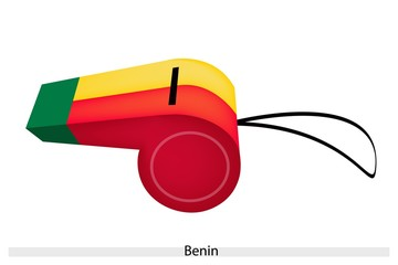 Green, Yellow and Red Colors on Benin Whistle