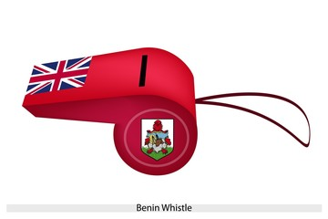 A Beautiful Red Whistle of Bermuda Flag