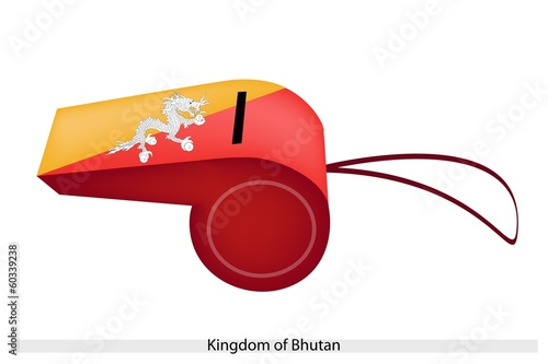 Orange and Yellow Colors on Bhutan Whistle