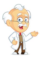 Professor in Welcoming Gesture