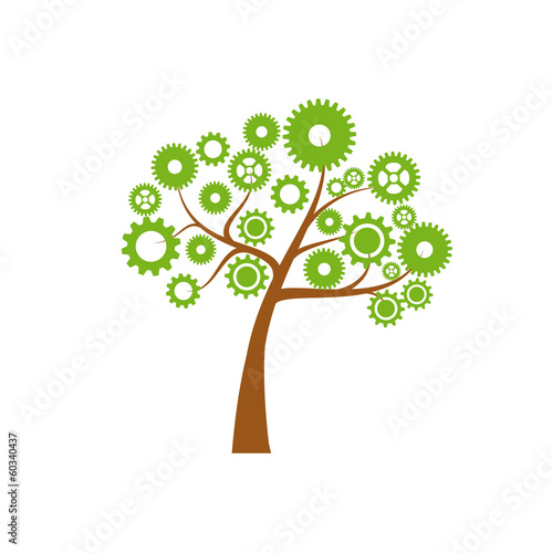Vector logo green economy