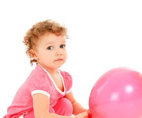 Child with the balloons