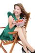 frische Erdbeeren essen
