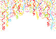 Streamers & Confetti Background A4