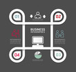 Design circle line Minimal style infographic template with alpha