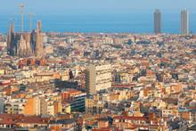 Barcelone au coucher du soleil