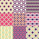 seamless retro geometric wallpaper art