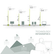 Infographic technology design time line template / can be used f