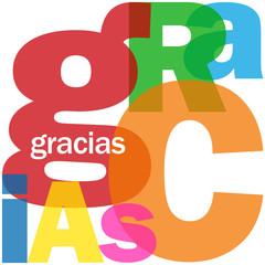 """Carta """"GRACIAS"""" (gratitud alegría emoción saludos amistad paz)"""