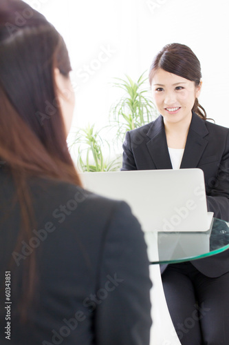 young asian businesswomen working