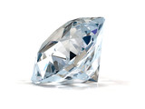Diamond on white background.