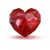 Jewel in the shape of heart.