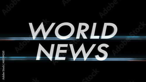 WORLD NEWS Only Text with Alpha Channel, Loop