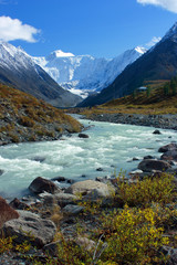 Mountain Altai. The river Akkem, a kind on the White whale