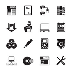 Silhouette Server Side Computer icons