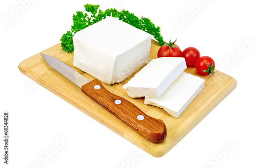 Feta cheese with tomatoes and parsley